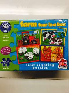 Orchard Toys Puzzle Farm Four in a Box Jigsaw