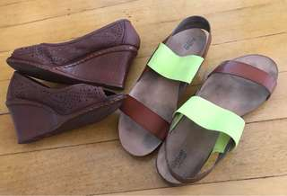 Celine wedge & Mossimo sandals both for 300