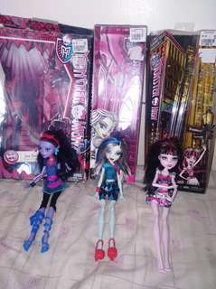 Monster High dolls and princess pop star barbie