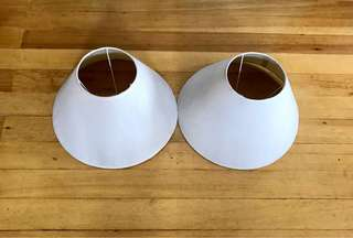 2 NEW Lamp shade cover white