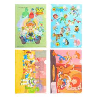 Japan Disneystore Disney Store Pixar Collection Toy Story Clear File
