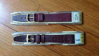 Nos Hirsch 16mm leather strap(Pic 1 $15 ea) Pic 2 $30 Pic 3 $50