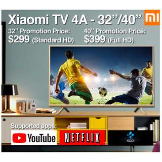 "🚚 TV Xiaomi Android TV 4A 32/40"" Build in Mitv Box (Ready Stock)"