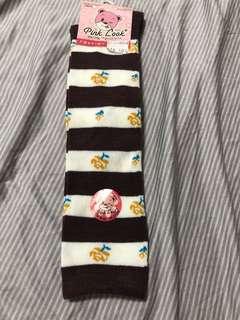 🚚 台灣製橫條紋花朵童襪19-21cm 小學生襪 高品質