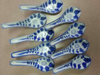 Vintage porcelain spoons