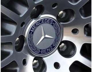 🚚 現貨-BENZ賓士藍黑稻穗款鋁圈蓋輪圈蓋  C300 E250 s320 A180 GLA CLK w211 w204