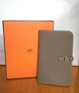Hermes Wallet #etoupe 98%New