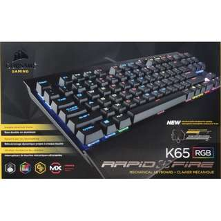 [CLEARANCE PRICE] Corsair K65 RGB RapidFire Compact Mechanical Gaming Keyboard (RGB LED / Cherry MX Speed) (CH-9110014-NA)