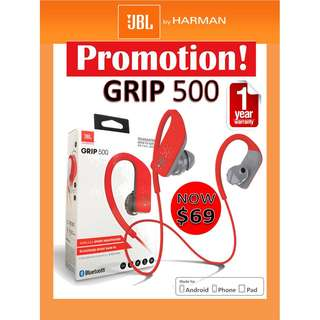 JBL GRIP 500 Bluetooth Headphone (1 year warranty)