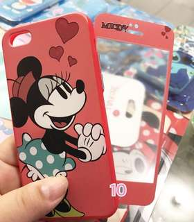 Case 360 Tempered Glass Minnie Mouse Redmi 4X