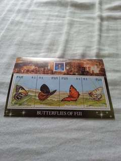(Brand New, Straight Version) Butterflies of fiji hong kong 1994    (全新,直板)郵票 stamp. Great deals