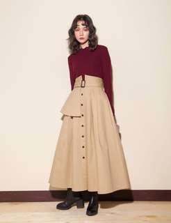Marjorie 風衣造型長裙