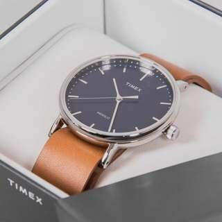 Timex Fairfield watch 手錶 皮錶