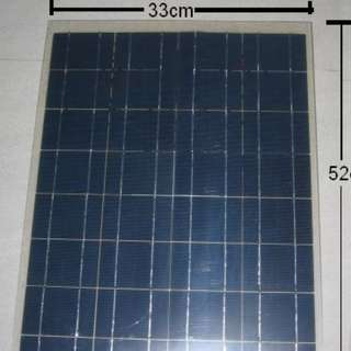 Semi-Flexible 30W Solar Panel (52cm x 33cm x 2MM thick only) . weight 560g . for 12V system