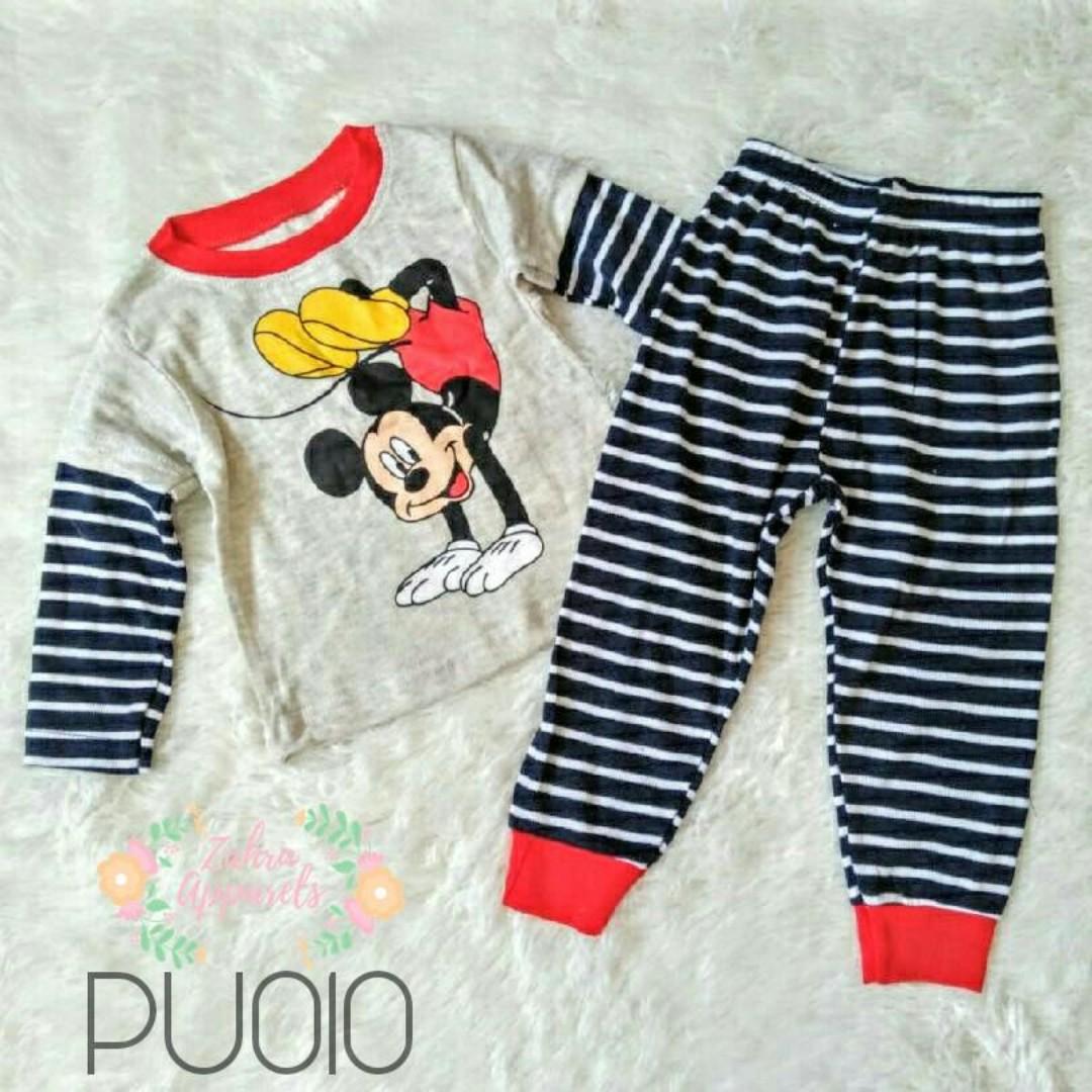 1-3 YEARS pijamas/baju tidur mickey mouse budak, Bayi & Kanak-kanak, Pakaian Budak Lelaki di Carousell