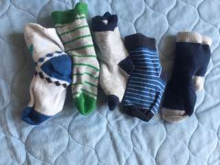 Baby Socks 0 to 6 months - 5 pairs