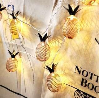 Tropical summer pineapple fairy light