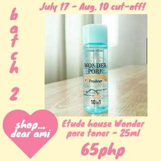Etude house wonder pore toner - 25ml