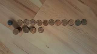 Malaysian 1 cents from 1990 to 2007 and others