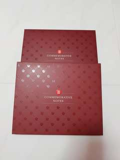 2 pcs of SG50 Commemorative Note Holder