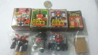 超合金 CGA-01至04 鐵甲萬能俠 幪面超人 電磁俠 黃金戰士