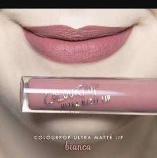 Colourpop ultra matte lip shade bianca
