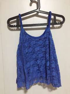 Blue Laced top
