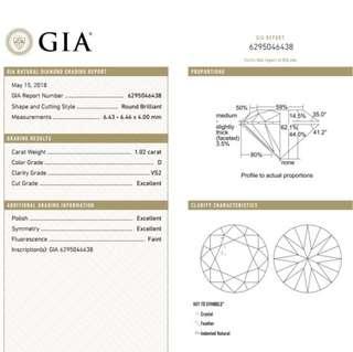 GIA 鑽石 1.02 D VS2 3EX FNT