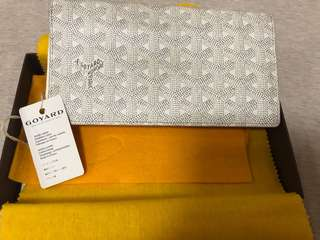 Goyard wallet 白色長銀包