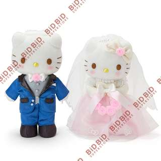 Hello Kitty 結婚公仔 西式結婚公仔 車頭公仔 禮服 婚紗 日本 SANRIO 出品 Dear Daniel Hello Kitty Wedding Plush Doll