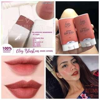 Luna organic clay blush