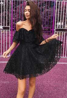 Strapless Lace Party Dress