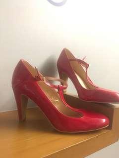 Red Pump Heels Shoes