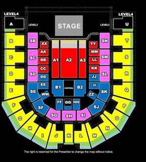 1 Pair of Celine Dion Live in Bangkok Tickets