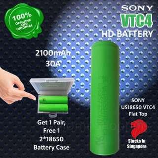 SONY US18650 VTC4 2100mAh, 30A Flat Top High Drain - 18650 Battery