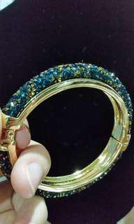 Swarovski inspired bangle-Turquish