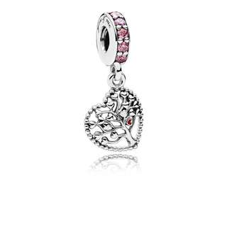00d9d4427 Authentic Pandora Charm Tree of Love Dangle Charm, Mixed Enamel &  Multi-Colored CZ