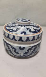 Blue & White Porcelain Container