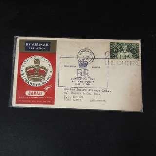 G.B 1953 Coronation  QANTAS