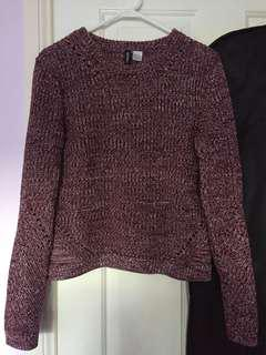 H&M Maroon Knit Jumper Size M