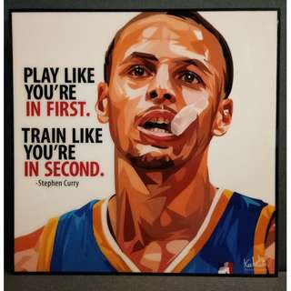 Stephen Curry Motivational Art Piece from Thailand