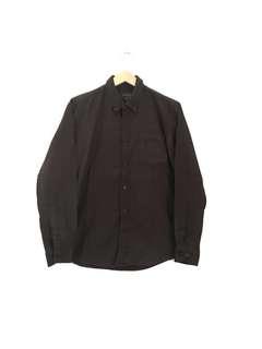 NYD Dark Brown Plain Flannel Shirt