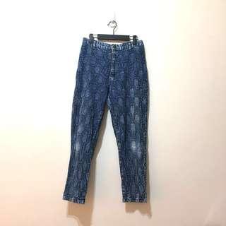 [Fire 烈愛]實穿(單寧牛仔褲古著破褲_vintage
