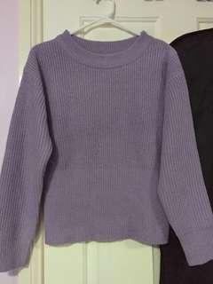 Purple Knit Jumper Size M - L
