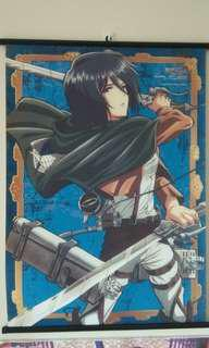Attack on Titan Wall Scroll Mikasa