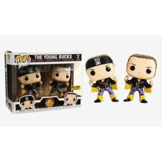 PRE-ORDER Funko Bullet Club Pop! The Young Bucks Vinyl Figure Set Hot Topic Exclusive