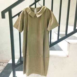#maudecay green army soft dress