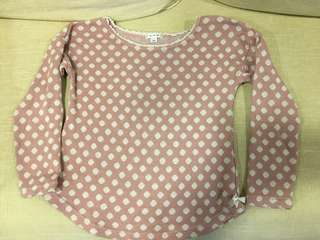 Polkadot woven Blouse from Tokyo A.V.V fitting 120cm tall