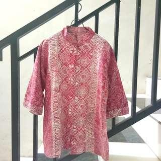 #maudecay pink cute batik blouse 7/8