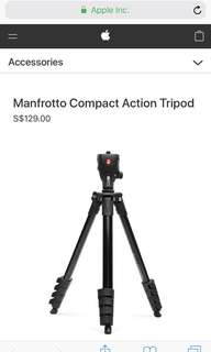 🚚 Manfrotto Compact Action Tripod
